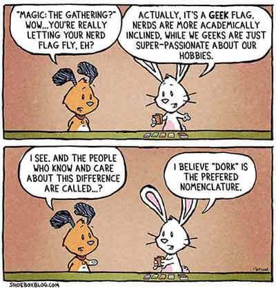 © http://shoeboxblog.com Geeks vs. Nerds cartoon