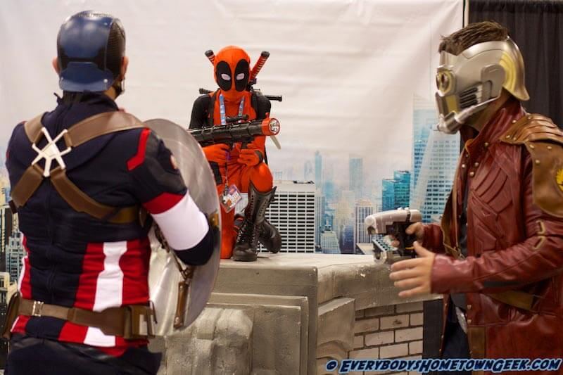 Does Deadpool REALLY think he can take on Captain America AND Star Lord??