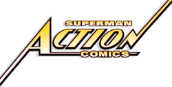 Superman in Action Comics Logo