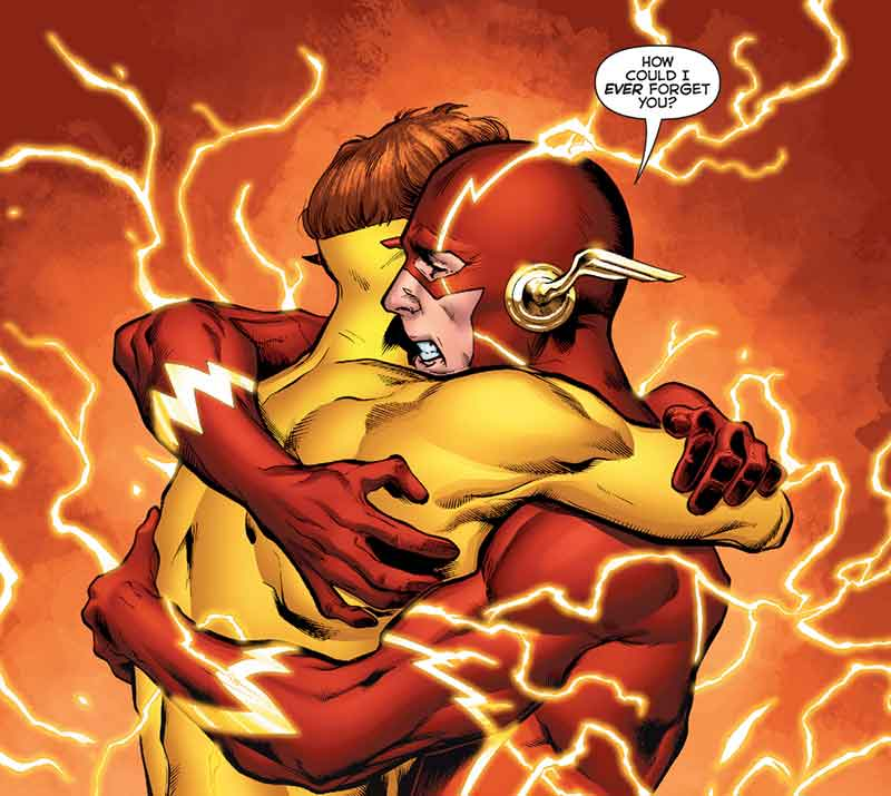 """DC Rebirth #01 Flash: """"How could I EVER forget you? Page 52"""