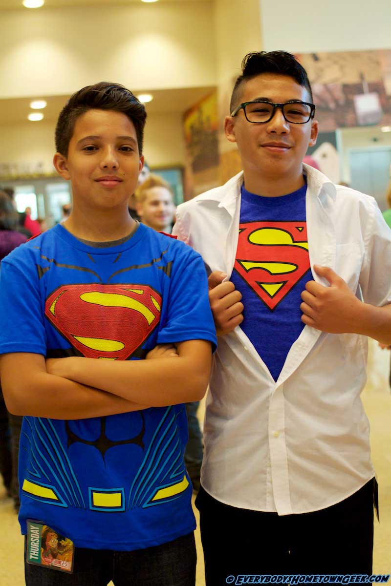 At the Phoenix ComiCon-Cosplay. Superman AND Clark Kent.