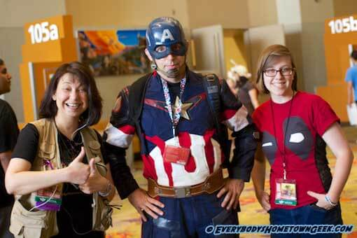 The Hometown Geeks with Captain America Cosplay