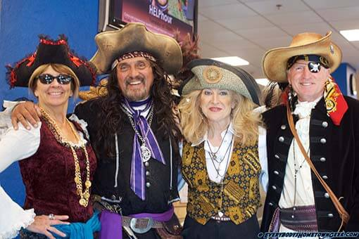 Mike Shepard as Vinegar Jack with Deirdre Rogers and the rest of the Prescott Pirates