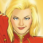 Captain Marvel comic book cover