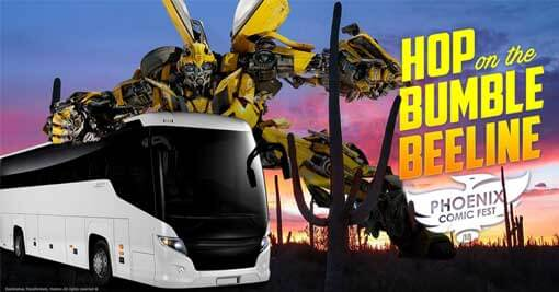 Phoenix Comic Fest 2018-Hop on the Bumble BeeLine bus from Tucson, AZ
