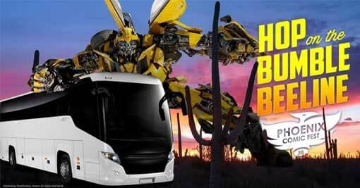 Phoenix Comic Fest 2018-Hop on the Bumble BeeLine bus from Tucson, AZ