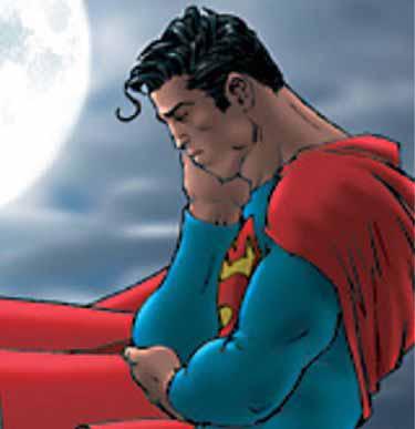 Superman sad