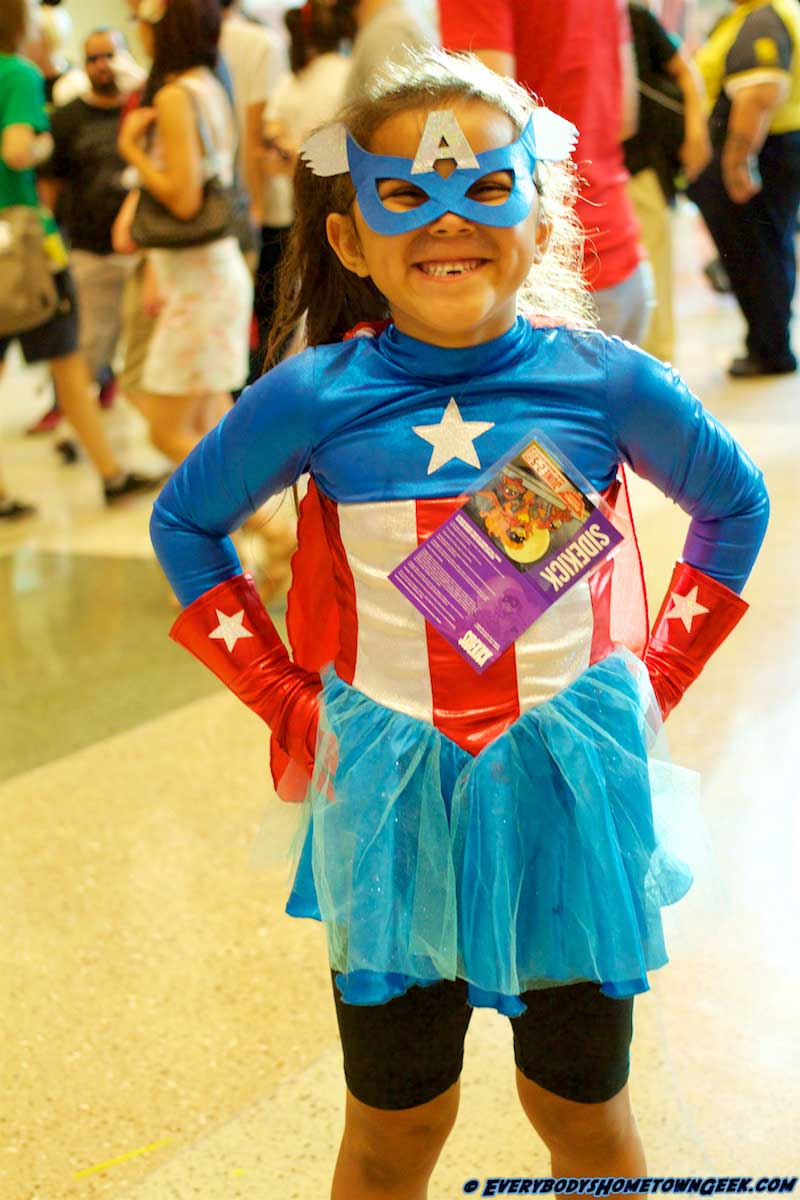 At the Phoenix ComiCon-Cosplay. Little Miss Captain America.